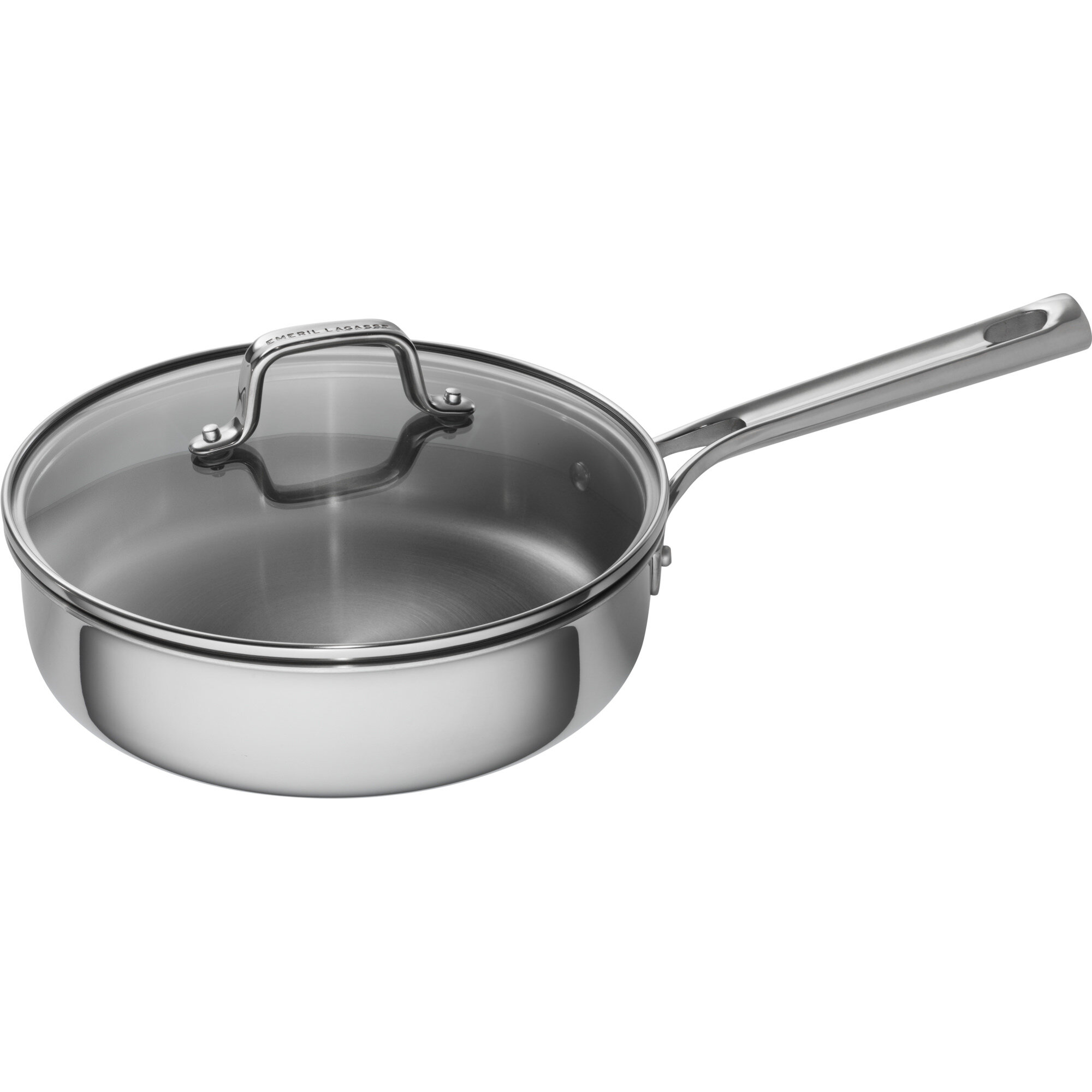 Enjoyable 3 Qt Tri Ply Stainless Steel Covered Deep Saute Pan With Lid Home Remodeling Inspirations Genioncuboardxyz