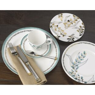 Goldenrod Bone China 5 Piece Place Setting, Service for 1