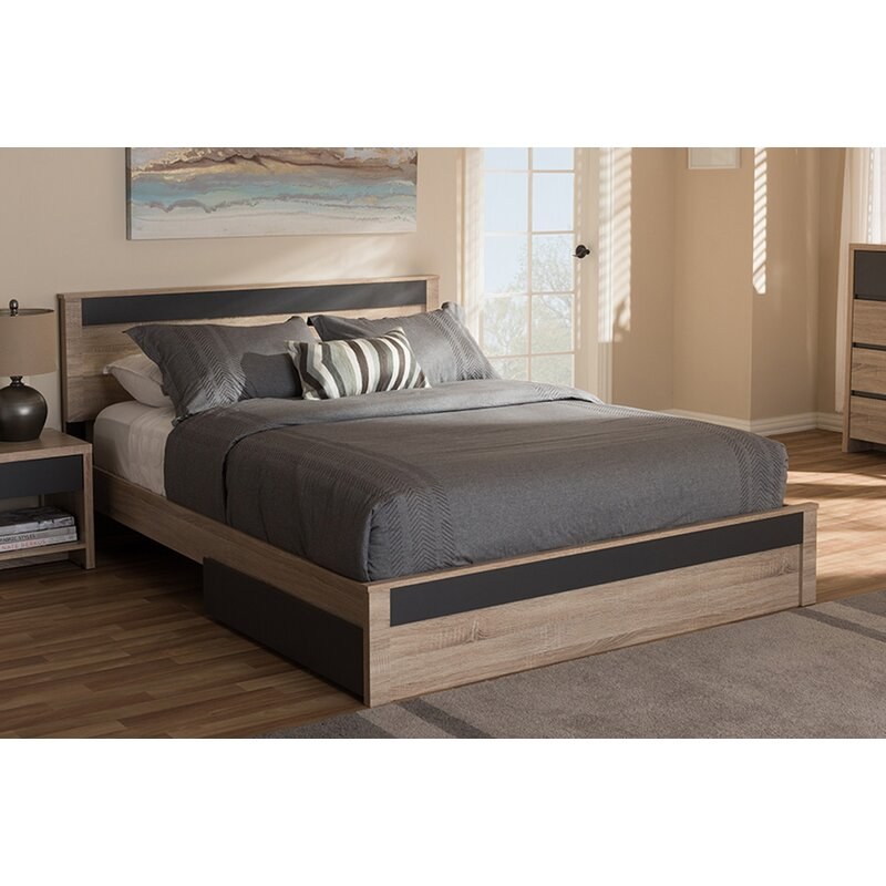 Latitude Run Nord Queen Upholstered Storage Platform Bed Reviews Wayfair Ca