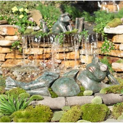 Lounging Frog Garden Art