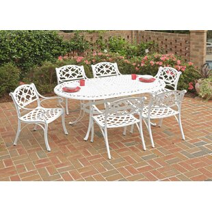 Six 7 Piece Oval Dining Table Set