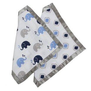 Price comparison Yasmeen Elephants Muslin 2 Piece Security Blanket Set ByViv + Rae