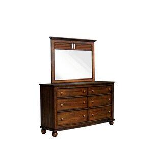 Kiger Shutter 6 Drawer Dresser with Mirror