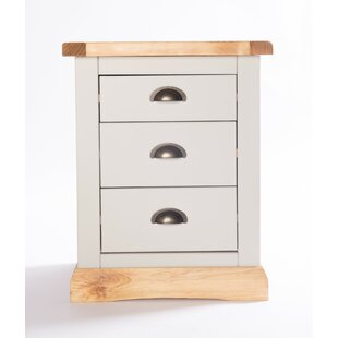 Nicholas 3 Drawer Bedside Table By August Grove