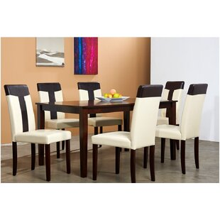 Rosette 7 Piece Solid Wood Dining Set Winston Porter