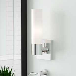 Great Price Kneeland 1-Light Drum/Cylinder Shade Bath Sconce By Zipcode Design