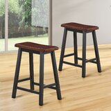 Krugerville Solid Wood 24 Counter Stool (Set of 2) by 17 Stories