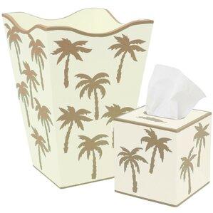 Palm Trees 2 Piece Bathroom Accessory Set
