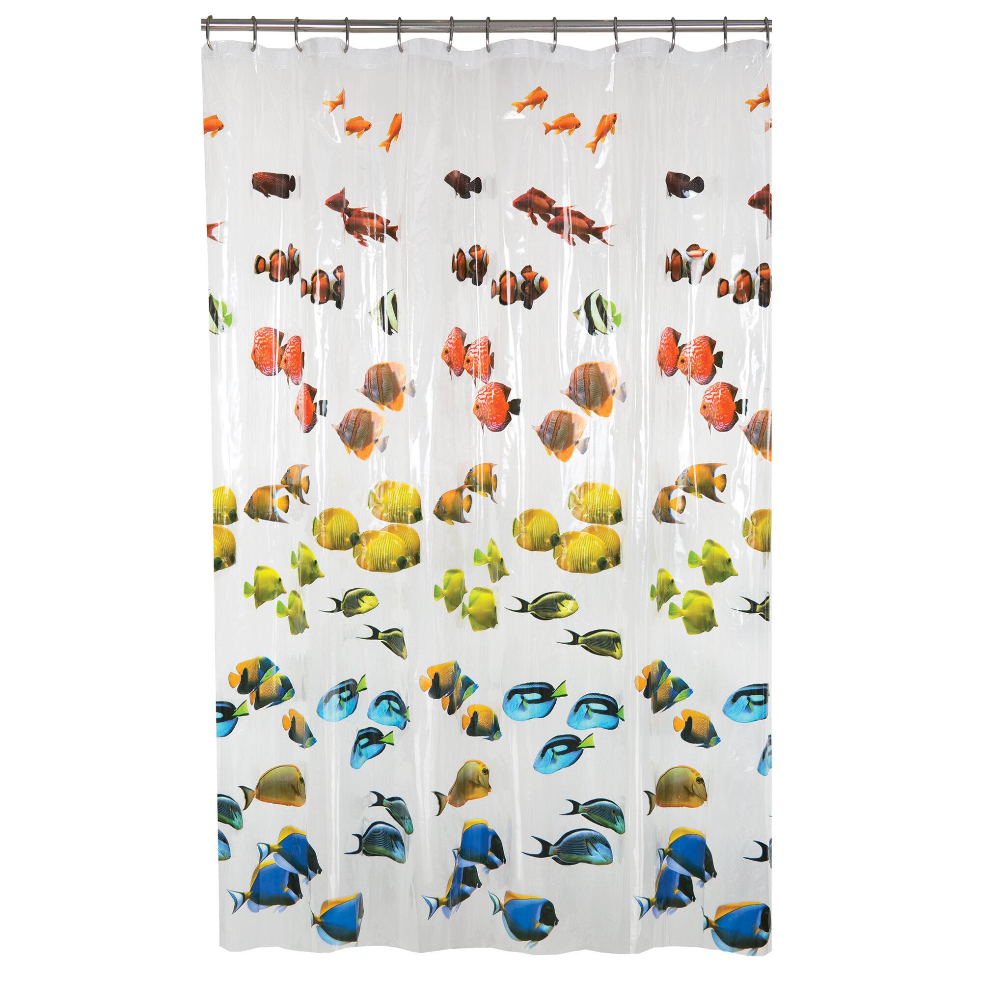 Zoomie Kids Swansea Photoreal New School Fish Single Shower Curtain Reviews Wayfair