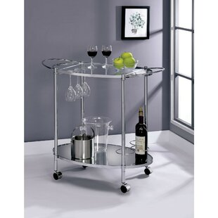 Moravian 2 Shelf Metal Bar Cart by Orren Ellis