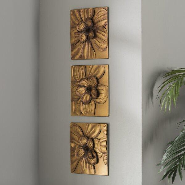 Charlton Home® 3 Piece Magnolia Brown Panel Wall Décor Set ...