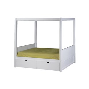 Check Prices Oakwood Twin Canopy Bed by Harriet Bee Reviews (2019) & Buyer's Guide