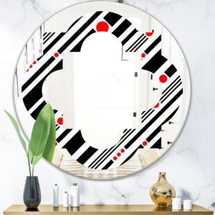 Bathroom Decorating With Quatrefoil Geometrical Minimal Pattern Xii Eclectic Frameless Wall Mirror By East Urban Home