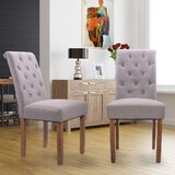 Wautoma Tufted Upholstered Parson Chair in Gray (Set of 2) by Ophelia & Co.