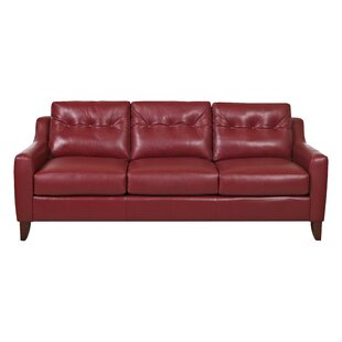 Red Leather Sofas & Couches You\'ll Love in 2019 | Wayfair