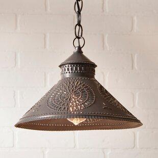 Gracie Oaks Wentworth Mansion Chisel 1-Light Cone Pendant