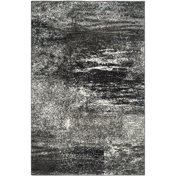 Trent Austin Design Costa Mesa Black, Silver/White Area Rug U0026 Reviews |  Wayfair