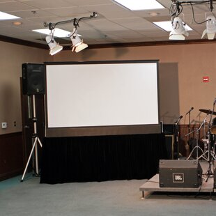 Kestrel Stage White Electric Projection Screen