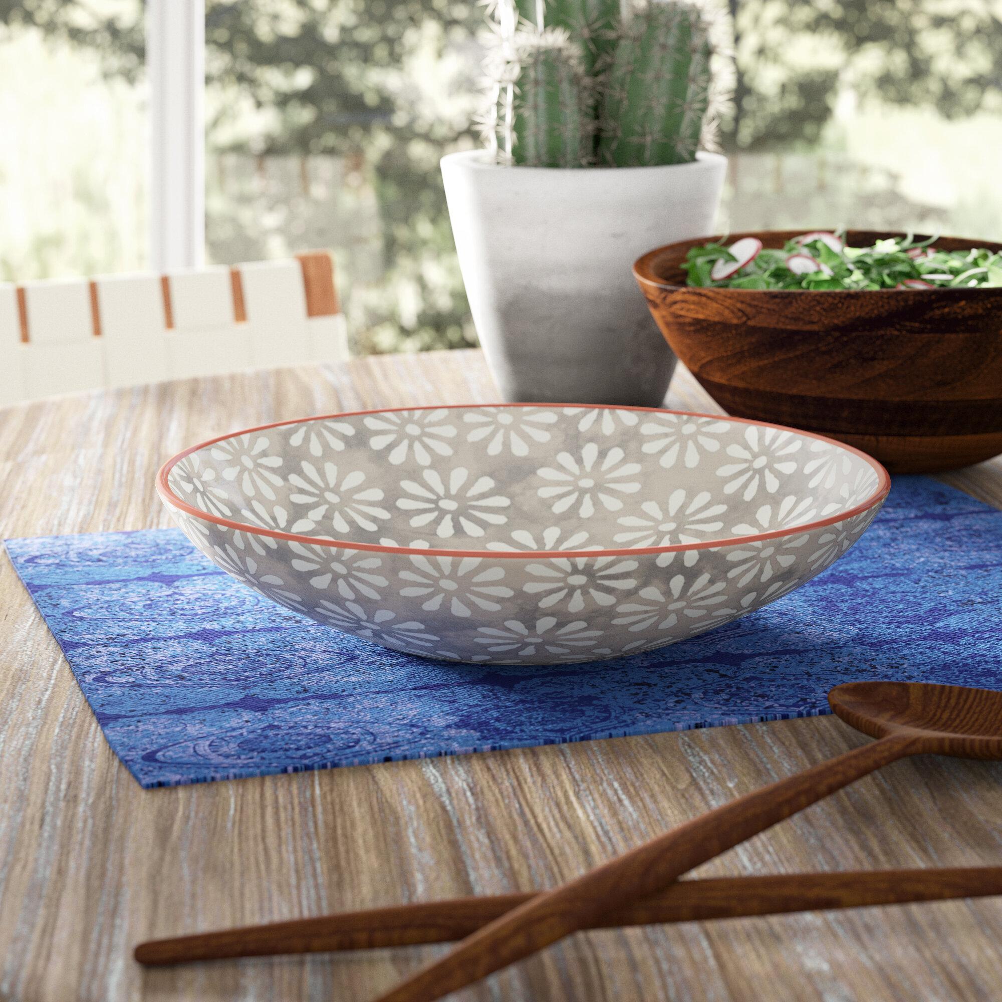 Mistana Jancis 84 5 Oz Hand Painted Salad Bowl Wayfair