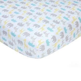 Neutral Safari Sateen Crib Fitted Sheet ByCarter's®