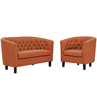 Wilbur 2 Piece Living Room Set by House of Hampton