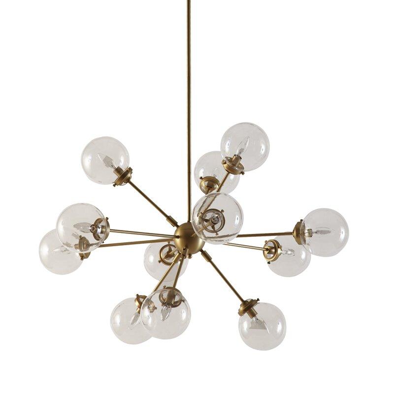 Benites 12 light sputnik chandelier reviews allmodern benites 12 light sputnik chandelier aloadofball Gallery