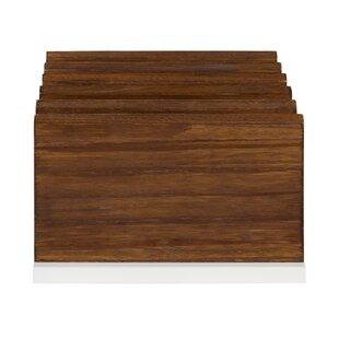 Gracie Oaks Mccaslin Wood Desktop Organizer With Drawer