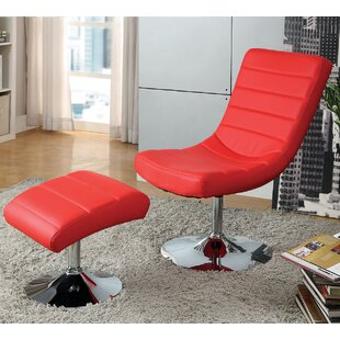 A&J Homes Studio Valerie Lounge Chair with Ottoman