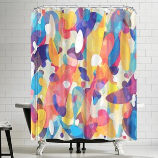 Chaotic Construction Single Shower Curtain