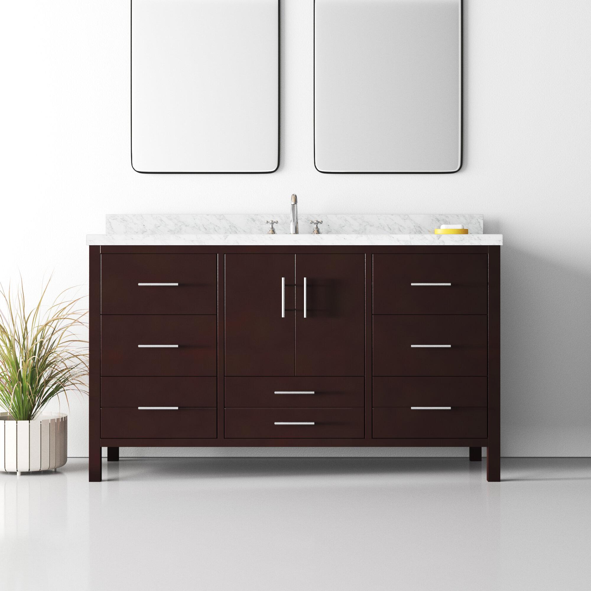 Erikson 60 Single Bathroom Vanity Set Reviews Allmodern