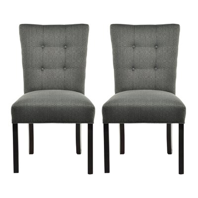 Laude Run Deann Side Chair Upholstery Color Candice Charcoal