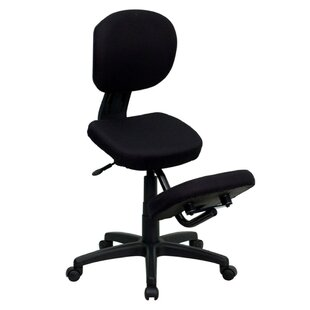 Mid-Back Height Adjustable Kneeling Chair with Dual Wheel