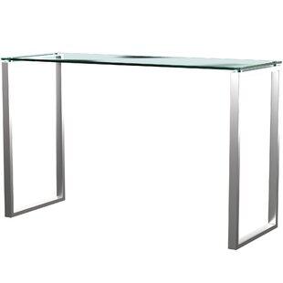 Crotts Glass Writing Desk by Mercury Row