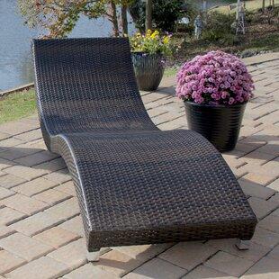 Orren Ellis Southern Aluminum Wicker Chaise Lounge