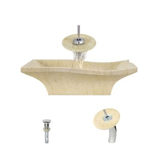 MR Direct Egyptian Stone Specialty Vessel Bathroom Sink with Faucet
