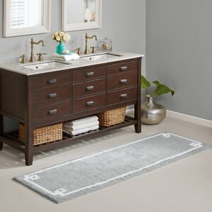 Double Vanity Bathroom Rugs bath rugs & bath mats you'll love | wayfair