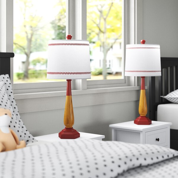Odysseus 25.5 Brown/Red Table Lamp Set (Set of 2) by Andover Mills™ Baby & Kids