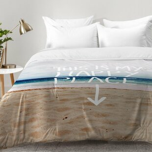 East Urban Home Happy Place X Beach Comforter Set