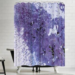 Zina Zinchik Floating Lilac Single Shower Curtain