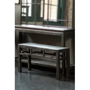 Faya Asian Pine Wood Bench by World Menagerie