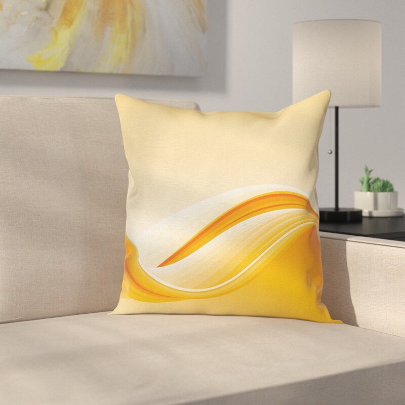 East Urban Home Babumba Vibrant Waved Line Square Pillow Cover Wayfair