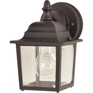 Outdoor wall lighting barn lights youll love wayfair aliya 1 light outdoor wall lantern workwithnaturefo