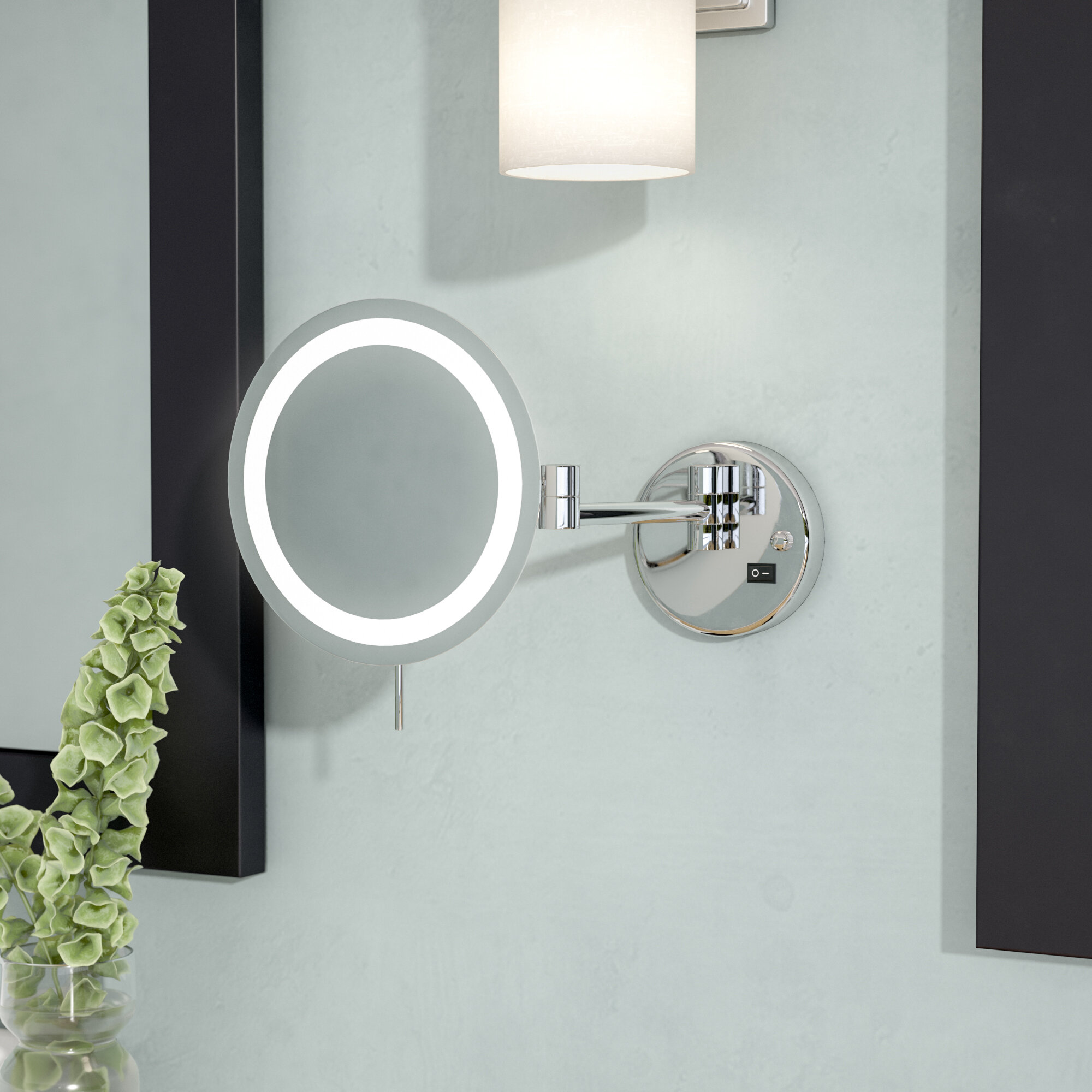 Symple Stuff LED 8x Magnifying Wall Mount Makeup Mirror Reviews