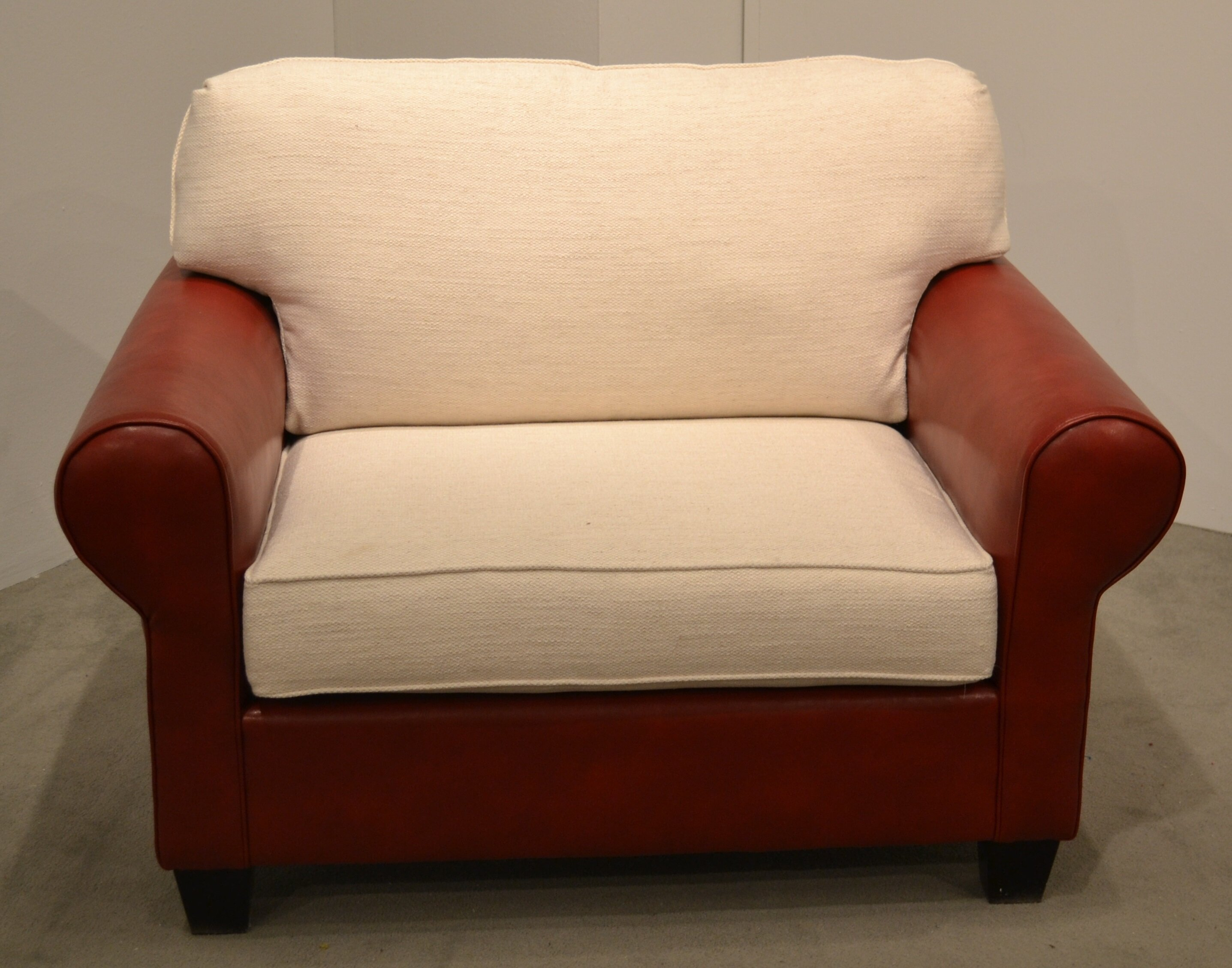 & Carolina Classic Furniture Leather and Fabric Chair and a Half | Wayfair