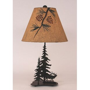 Glenlee Elk and Feather Tree 25.5 Table Lamp
