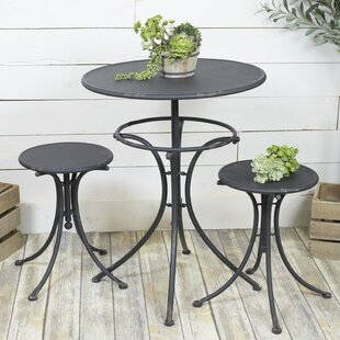 Gracie Oaks Whalen Rustic 3 Piece Bistro Set