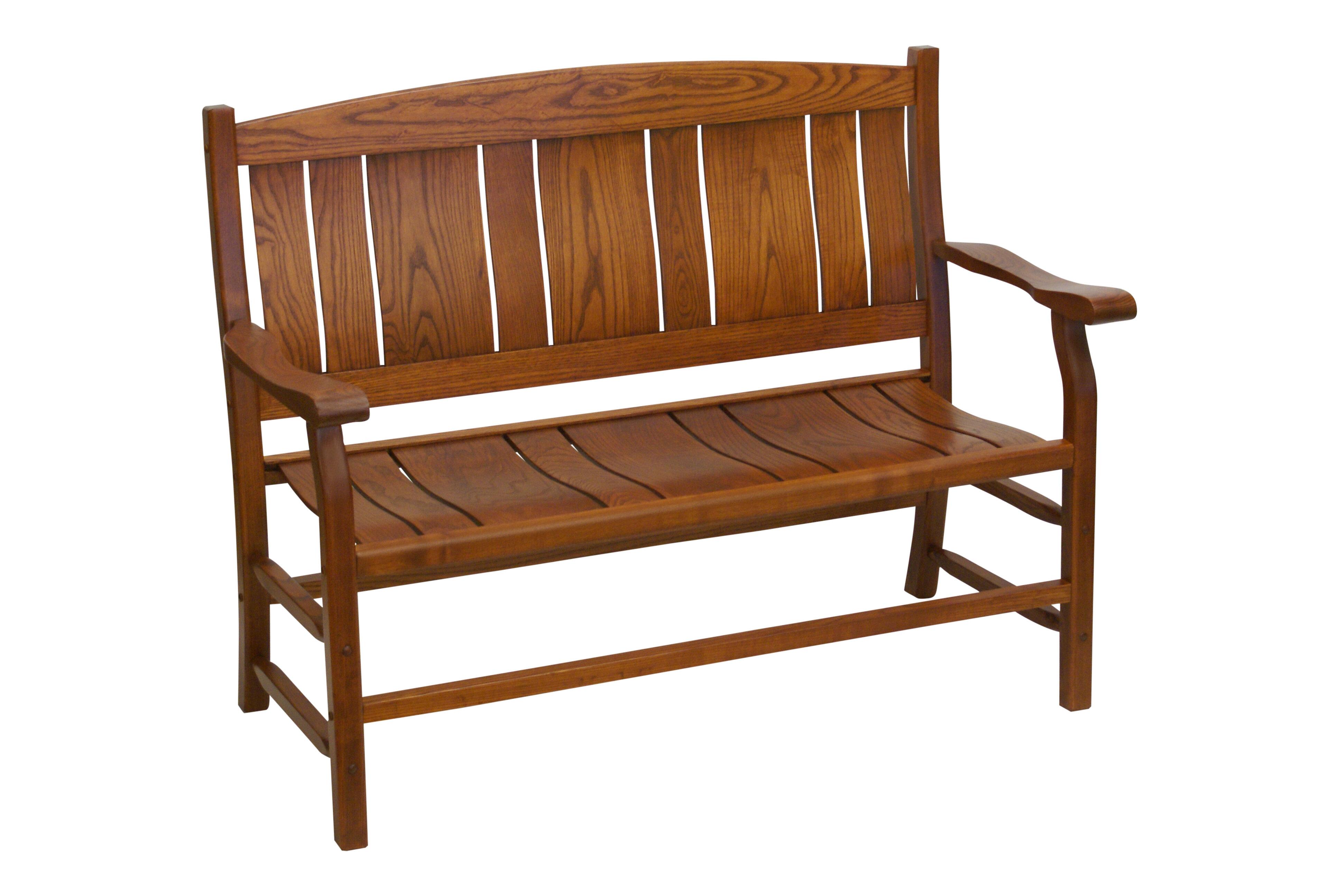 Red Oak Kitchen Table, Alcott Hill Grindle Slat Back Wooden Garden Bench Wayfair