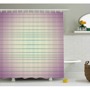 Baumbach Stripes Single Shower Curtain