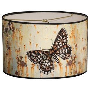 Butterfly Designer Hard Back 10 Paper Drum Lamp Shade