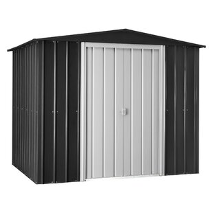 Globel 9 ft. 8 in. W x 7 ft. 9 in. D Galvanized Steel Storage Shed